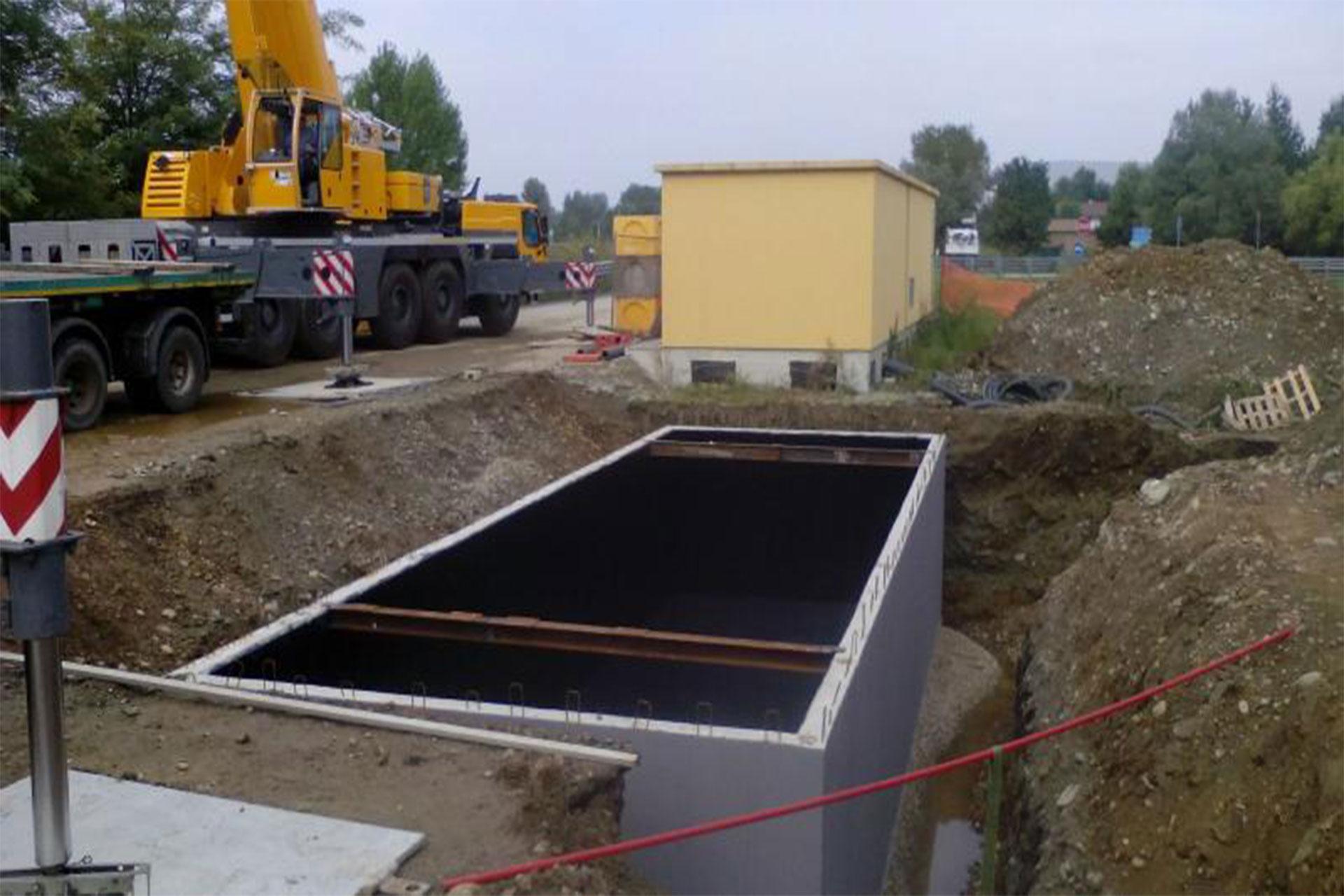 Nuova vasca di grandi dimensioni